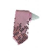 Kravata s flitrami svetlo ružová