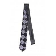 Úzka kravata - čierne flitre