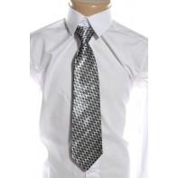 Detská kravata - sivá , štvorce