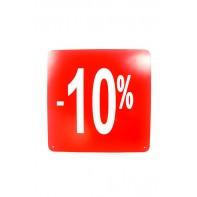 Reklamný pútač -10 % (10 ks)
