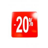 Reklamný pútač kocka -20 % - 10 ks