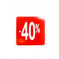 Reklamný pútač kocka -40 % - 10 ks