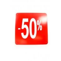 Reklamný pútač kocka -50 % (10 ks)
