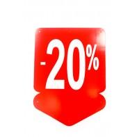 Reklamný pútač - šípka 20 % (10 ks)