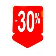 Reklamný pútač - šípka 30 % (10 ks)