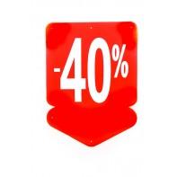 Reklamný pútač - šípka 40 % (10 ks)