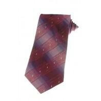 Kravata svetločervená s pásmi