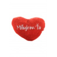 Prívesok na kľúče srdce červené Milujem ťa