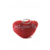 Prívesok na kľúče srdce Milujem ťa