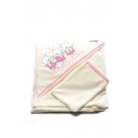 Detský kojenecký uterák - 3 mackovia 90x90cm