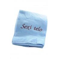 Osuška Sexi telo - modrá 70x140cm, PoloTrade