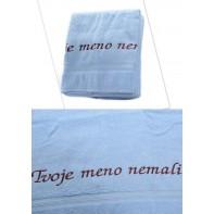Osuška Tvoje meno nemali - modrá 70x140cm