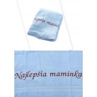 Osuška Najlepšia maminka - modrá 70x140cm, PoloTrade