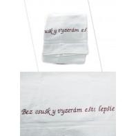 Osuška - Bez osušky vyzerám ešte lepšie - biela, 70x140cm