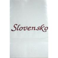 Osuška Slovensko - biela, 70x140cm