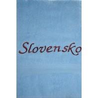 Osuška Slovensko - modrá, 70x140cm