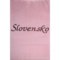 Osuška Slovensko - ružová, 70x140cm