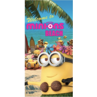 Osuška MINIONS Welcome To Beach 70x140cm, Sun City