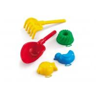 Set hračiek do piesku lopatka, hrabličky, formičky, Marioinex