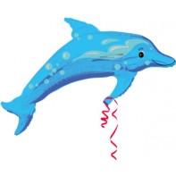 Balón delfín modrý