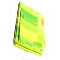 Teflónový obrus vzorovaný 160x220cm, žlto-zelená farba, zúbkovaný okraj, hran. 15
