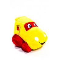 Plyšová hračka - žlté auto 15 cm