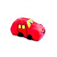 Plyšová hračka - červené auto 20 cm