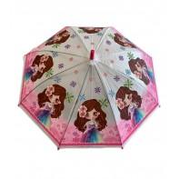 Dáždnik detský dievča s kvetom vo vlasoch 66cm