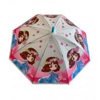 Dáždnik detský dievča v modrých šatách 66cm