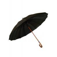 Pánsky dáždnik Feeling Rain čierny, drevená rúčka
