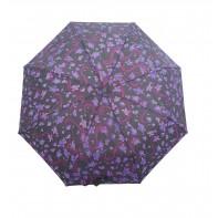 Dáždnik skladací poloautomatický a vetruodolný  malé kvety