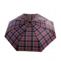Skladací dáždnik s károvaným motívom