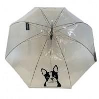 Dáždnik priehľadný pes 82cm, P100cm