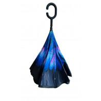 Obrátený dáždnik modrý - kvety