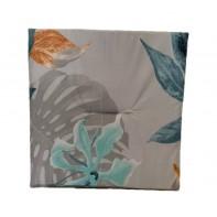 Jednostranný sedák šedý-listy