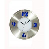 Nástenné hodiny veľké 35cm, nerez