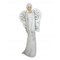 Anjel so špirálovým vzorom na krídlach