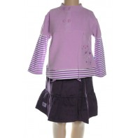 Komplet detský sukňa s tričkom dlhý rukáv