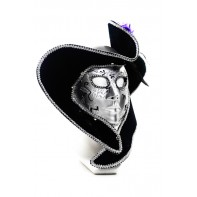 Trblietavá maska s klobúkom Venezia 27x20cm