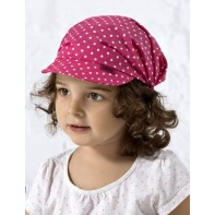 Detská čiapka so šiltom - bodky