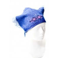 Detská čiapka - šatka riflová