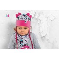 Detská čiapka - Mačky a psy Bystrzak, C-5-6174