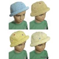 Detský slamený klobúk s kvietkami