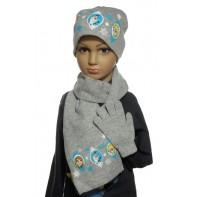 Zimný set FROZEN - čiapka+šál+rukavice