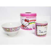 Hello Kitty set - Hrnček a miska v plechovke SET