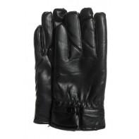 Pánske koženkové rukavice čierne