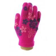 Dievčenské rukavice - kvietky