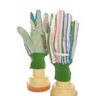 Pracovné zelené rukavice pogumované