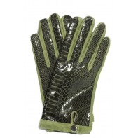Dámske rukavice vzor krokodíl