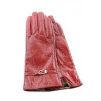 Lesklé kožené rukavice